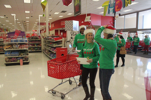 East West Manufacturing Elves Shopping at Target