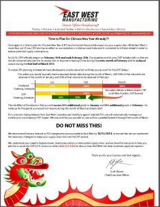 Chinese New Year 2015 Letter