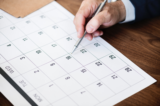 calendar-close-up-dates
